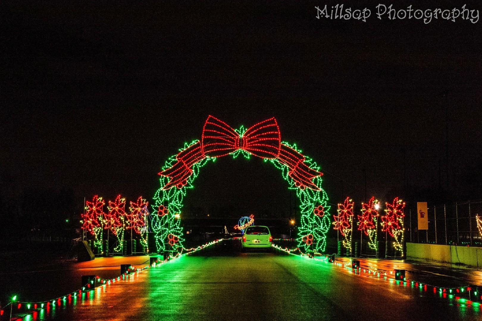 Portland International Raceway Major Events - Budweiser Christmas Lights